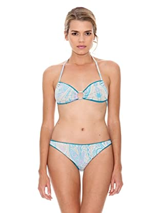 Monoplaza Bikini Santorini (Turquesa)