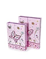 Mousehouse Gifts Pink Butterfly Notebook Gift Sets With Pencils & Eraser