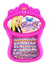 Beauty Princess Bilingual English/Spanish Multimedia Learning System Childrens Toy Computer Tablet w/ 5 Quiz Modes, Learn & Play (Colors May Vary)