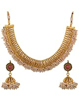 Dishi chandani necklace jhumki kriyamoti golden Charm jewellery set for Women