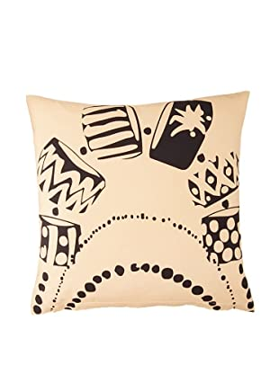 Twinkle Living Necklace Pillow Cover (Beige/Black)