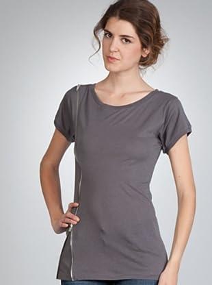 Naf Naf Camiseta Cremallera (gris)