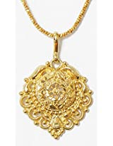 DollsofIndia Gold Plated Chain with Pendant - Metal - Golden