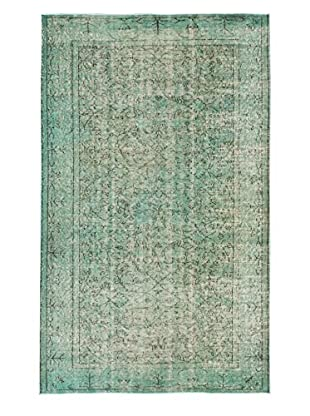 eCarpet Gallery One-of-a-Kind Hand-Knotted Color Transition Rug, Aqua, 4' 8