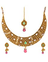 bollywood Imitation jewelry Antique Polki Set Gold Plated christmas special gift Necklace set