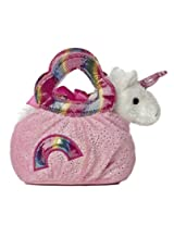 Aurora World Fancy Pal Pet Plush Carrier, Rainbow