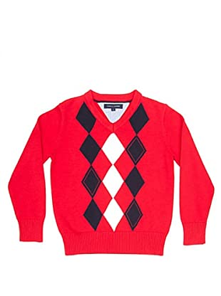 Tommy Hilfiger Jersey Rombos (Rojo)