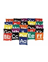 "American Educational Products Alphabet Beanbags, 4 x 4"", Set of 26"