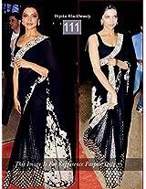 Bollywood Replica Deepika Padukone Net Saree In Black Colour Nc 641