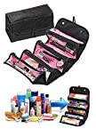 PackNBUY Roll N Go 4 in 1 Travel Buddy Cosmetic Shaving Toiletry Bag jewellery Storage Organizer