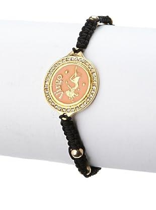 Blee Inara Peach Virgo Macrame Bracelet