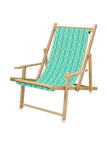 Julie Brown Wooden Reversible Adult Chair (Green Jenjule/Polka Dot)