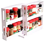 Marvel White Plastic Swivel Store With12 pc Spice Jars 9011