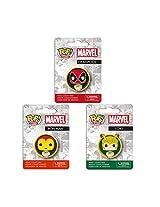Funko Pop Marvel Comics Pin Deadpool Iron Man Loki 3pc Set
