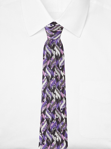 Emilio Pucci Men's Twirl Tie, Black/Purple