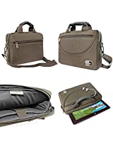 DMG Brinch Premium Nylon Felt Messenger Bag Case with Handle and Multiple Accessory Pockets for HCL ME Tablet Z400 D (Grey)
