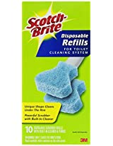 Scotch-Brite Disposable Toilet Scrubber Refills 557-R10-6, 10-Count ( Pack of 6 )
