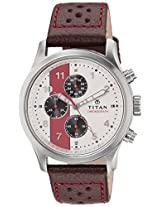 Titan Octane Analog White Dial Men's Watch - 1634SL02
