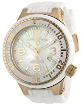 Swiss Legend Watches, Men's Neptune White MOP Dial Gold Tone IP Case White Silicone, Model 21818P-YG-02-MOP
