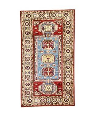 L'Eden del Tappeto Teppich Kazak Super blau/rot/mehrfarbig 183t x t103 cm