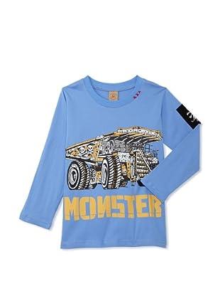 Monster Republic Boy's Monster Truck Tee (Blue)