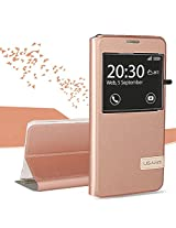 USAMS Muge Series Window View Leather Case for Samsung Galaxy A5 A510F (2016) - Rose Gold
