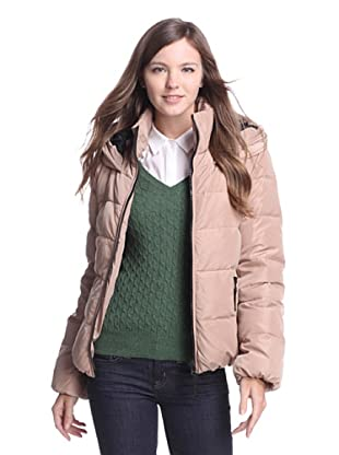 French Connection Women's Hooded Down Jacket (Peach)