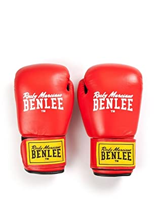 Benlee Guantes Boxeo Leather Fighter (Rojo / Negro)
