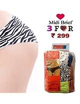 Seasons Hushh Pack Of 5 Midi Brief Panties B110B1103OI_Multi