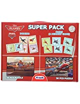 Frank Super Pack Planes set of two 30 Pcs Activity Puzzle Set - Red
