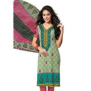 Vaamsi Womens Cotton Dress Material (1010 -Green -Free Size)
