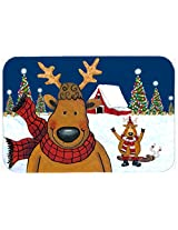 Caroline's Treasures PJC1088JCMT The Tree Famers Reindeer Christmas Kitchen or Bath Mat, 24 by 36 , Multicolor