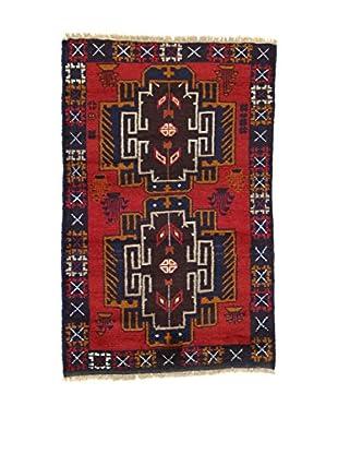 Eden Teppich Beluchistan rot/blau 86 x 130 cm