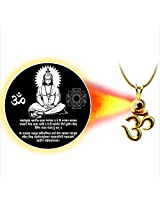 Dijyo Divine Darshan Gold Plated Hanuman Mantra Pendant For Unisex