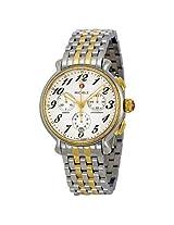 Michele Fluette Silver White Dial Two-tone Ladies Watch (MWW24A000007)