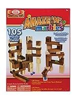 Ideal Amaze 'N' Marbles Classic 105-Piece Wood Construction Set