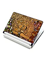 Meffort Inc 17 17.3 inch Laptop Skin Sticker Cover Art Decal Fits 16 17 18 19 Notebook PC (Free Wrist Pad) - Klimt Tree of Life
