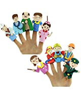 Catterpillar Set of 10 Finger Puppets (Family)