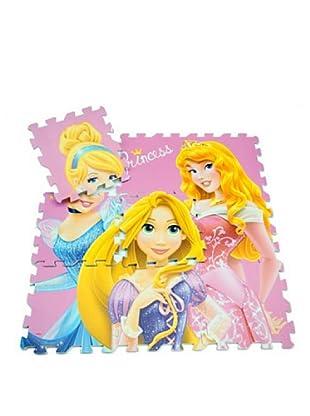 Juego Alfombra Puzzle En Eva 9 Piezas Princesas 90 x 90