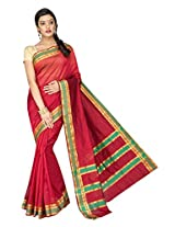 Korni Cotton Silk Banarasi Saree ISL-2561- Red KR0480
