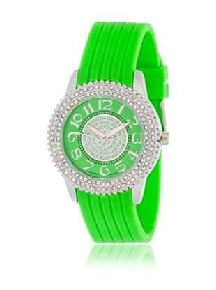 My Silver Reloj Reloj Plata y Pistacho con Esfera Strass