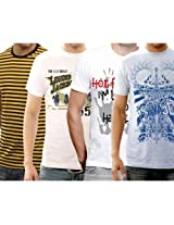 Funktees Best Price Premium Cotton Small Size T Shirts - Pack of 4