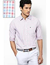 Light Blue Check Slim Fit Casual Shirt Allen Solly