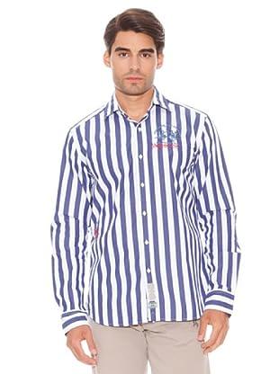 La Martina Camisa (Azul / Blanco)
