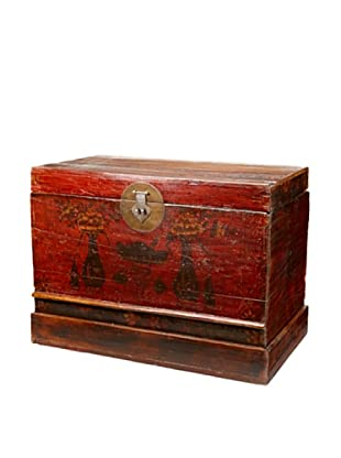 Antique Revival Chinese Lacquered Trunk (Multi)