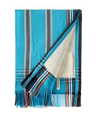 Nomadic Thread Society Fringed Surf Sarong Towel (Turq/Green/Org)