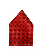 Navaksha Red Floral Pocket Square