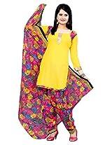 Krisha Womens Cotton Salwar Unstitched Dress Material (P1-102 _Green)