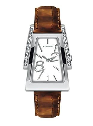 K&BROS 9155-5 / Reloj de Señora  con correa de piel marrón