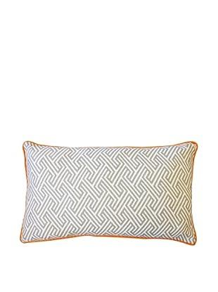 Inca Passage Throw Pillow, Grey/Orange